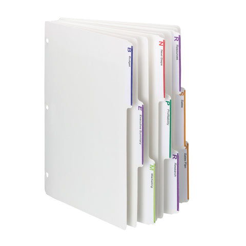 Smead Viewables® Three-Ring Binder Index Dividers, 1/3-Cut Tab, Letter Size, White, Box of 25 Sets of 3 Dividers (89413)