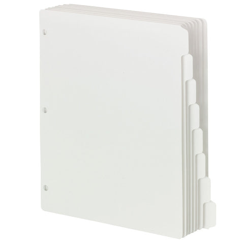 Smead Three-Ring Binder Index Dividers, 1/8-Cut Tabs, Letter Size, White, Box of 12 Sets of 8 Dividers (89418)