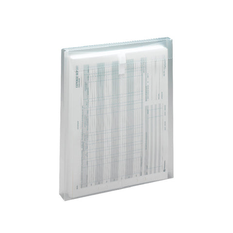 "Smead Poly Envelope, 1-1/4"" Expansion, Hook-and-Loop Closure, Top Load, Letter Size, Clear, 5-Pack (89670)"