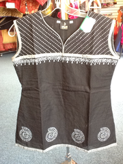Black And White Short Kurti Size XL Length 24 VS-8B198