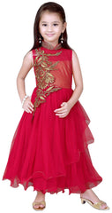 Girl's Red Long Gown