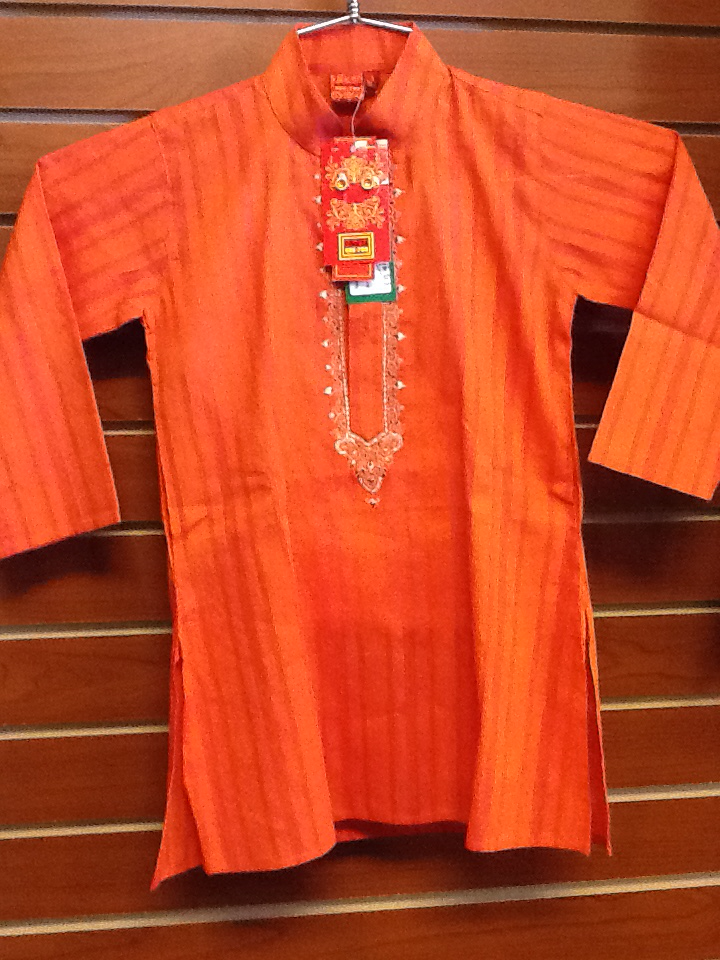 Pinkish Orange Boy's Kurta Pajama