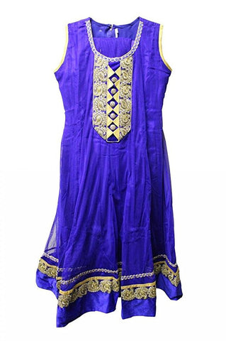 Girl's Dark Blue PartyWear Salwar Suit