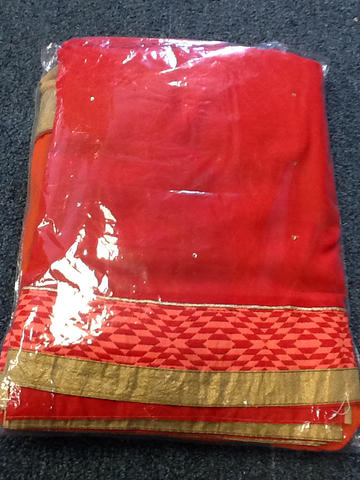 Red And Orange Shaded  Designer Party Wear Saree VS-10A15/13