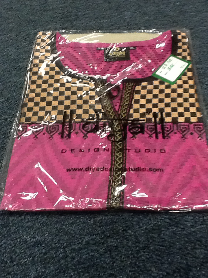 Pink and Black Short  Kurti Size XL Length 28 VS-8B148