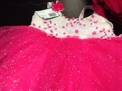 Girl's Pink & White Frock