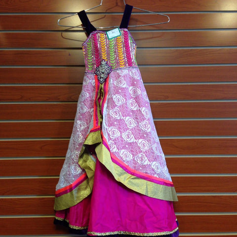 Pinkish Multi Colour Long Gown