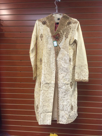 Cream Colour Men's Sherwani Set