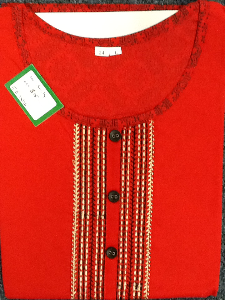 Tunic Short Red Size:Large 5B14/16