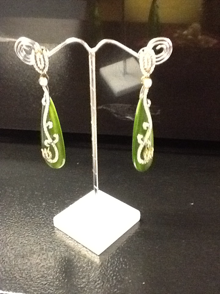 Green Ear Rings VS-M44