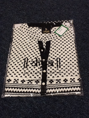 White and Black Short  Kurti Size L Length 24 VS-8B219