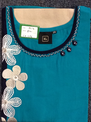 Tunic Short Green&Blue Size:XL 5B17/16