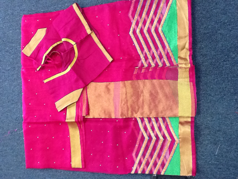 Dark Pink Designer Saree VS-6A1/16
