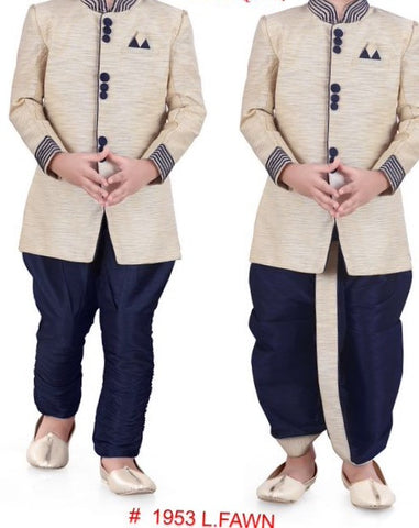 Boy's Cream Sherwani