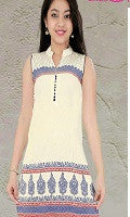 Girl's Cream and Blue Tunic, Complete Set