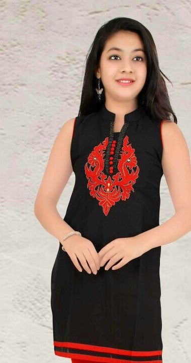 Black & Red Tunics for Girl's, Complete Set