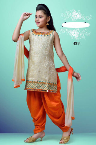 Girl's Designer Patiala Set C5