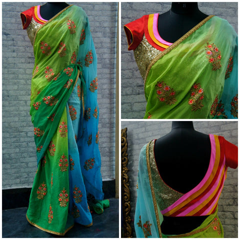 Custom made Designer Saree