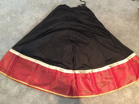 Satin Designer Skirt with Silk big border SD10