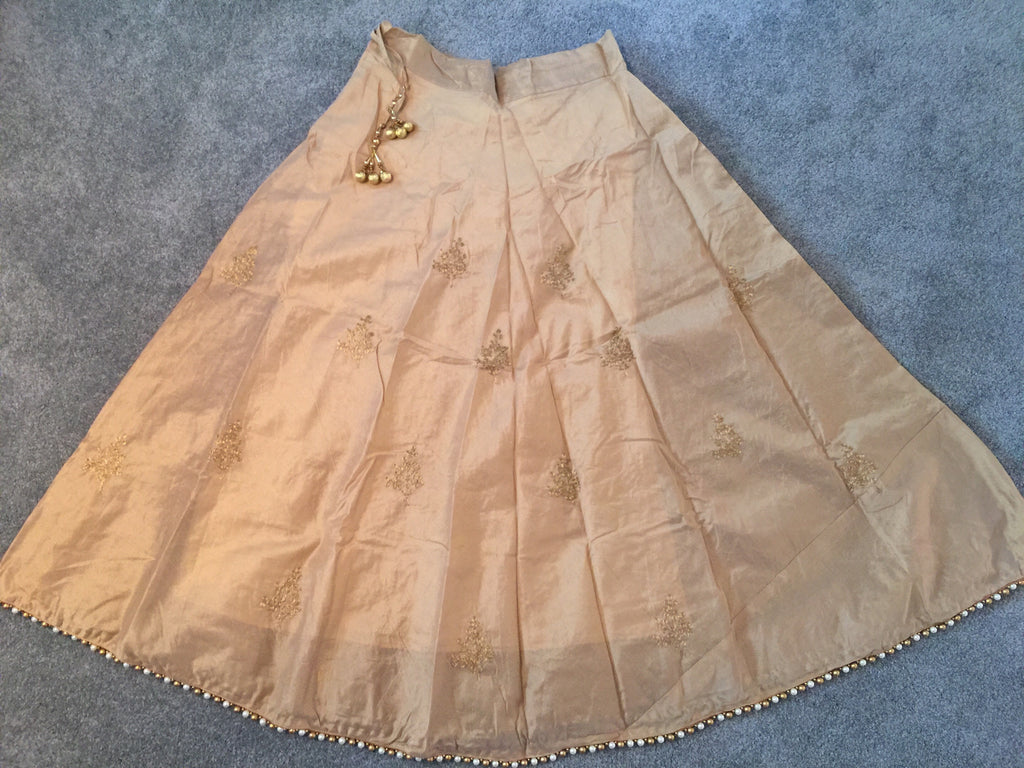 Silk Designer Skirt with Pearls SD9