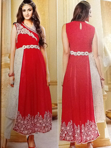 Red and Cream Kurti VS-33C12/16