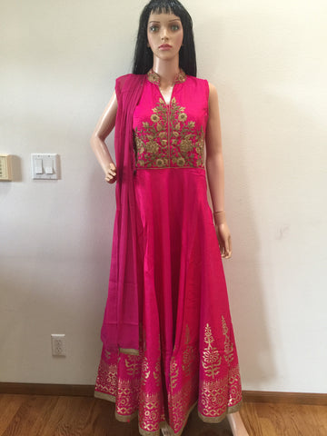 Soft Silk Floor Length Anarkali Suit