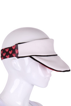 Load image into Gallery viewer, Love Tennis Visor in White - I LOVE MY DOUBLES PARTNER!!!