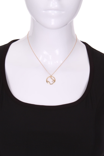 Ball + Heart Solid Gold Necklace - I LOVE MY DOUBLES PARTNER!!!