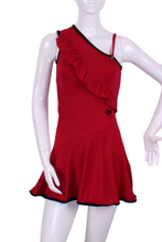 Load image into Gallery viewer, The Charmaine Court To Cocktails Tennis Dress in Red - I LOVE MY DOUBLES PARTNER!!!