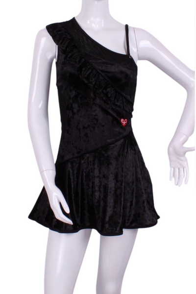 The Charmaine Court To Cocktails Tennis Dress in Black Velvet - I LOVE MY DOUBLES PARTNER!!!