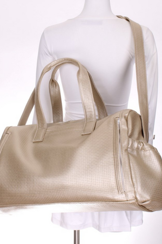 Gold + White LOVE Duffle Tennis Bag - I LOVE MY DOUBLES PARTNER!!!