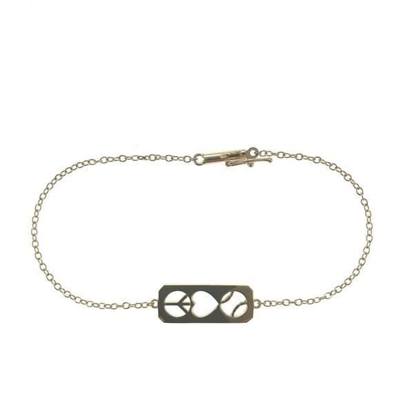 Gold Peace Love Tennis Bracelet - I LOVE MY DOUBLES PARTNER!!!