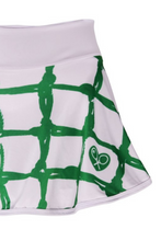 "Load image into Gallery viewer, Green Tennis Net LOVE ""O"" Skirt - I LOVE MY DOUBLES PARTNER!!!"