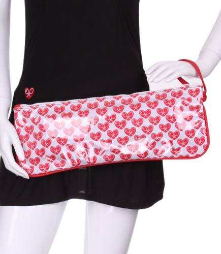 Mini Heart + Clear LOVE Clutch - I LOVE MY DOUBLES PARTNER!!!