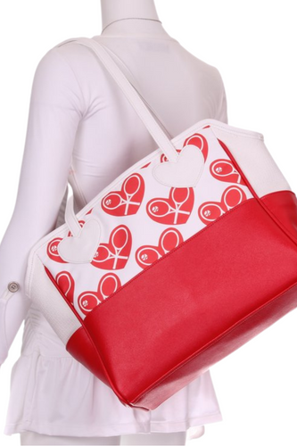Heart on White Mini LOVE Tote - I LOVE MY DOUBLES PARTNER!!!
