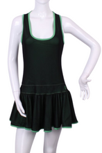 Load image into Gallery viewer, Longer Mesh and Green Sandra Dee Tennis Dress - I LOVE MY DOUBLES PARTNER!!!