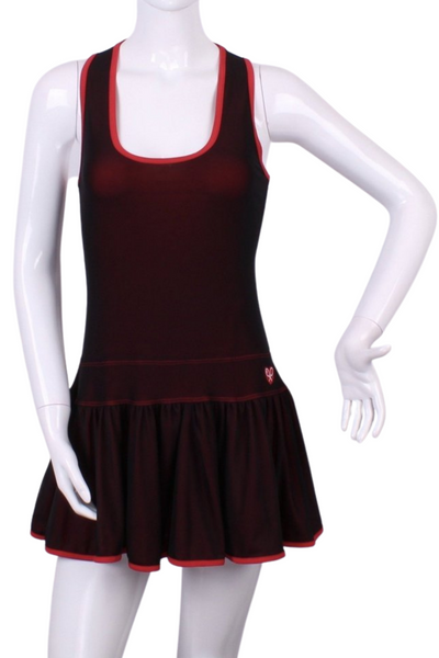 Limited Mesh and Red Sandra Dee Tennis Dress - I LOVE MY DOUBLES PARTNER!!!