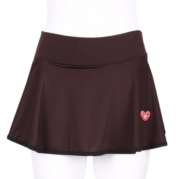 "Soft Brown LOVE ""O"" Skirt - I LOVE MY DOUBLES PARTNER!!!"