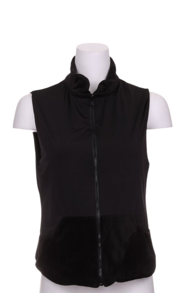 Soft Black on Black Velvet Reversible Vest - I LOVE MY DOUBLES PARTNER!!!