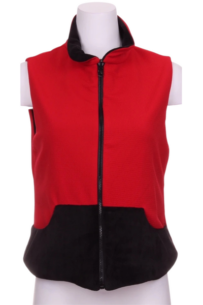 Textured Red + Black Reversible Vest - I LOVE MY DOUBLES PARTNER!!!