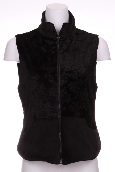 Flower Black Velvet + Black Velvet Reversible Vest - I LOVE MY DOUBLES PARTNER!!!