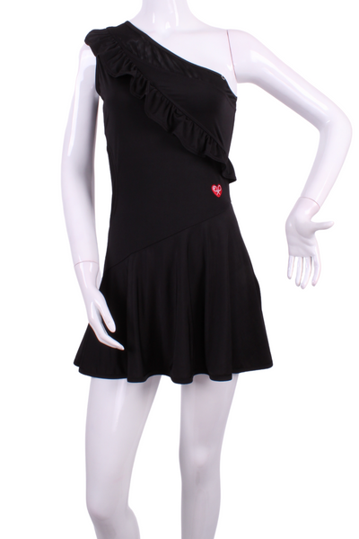 The Charmaine Court To Cocktails Tennis Dress in Black - I LOVE MY DOUBLES PARTNER!!!