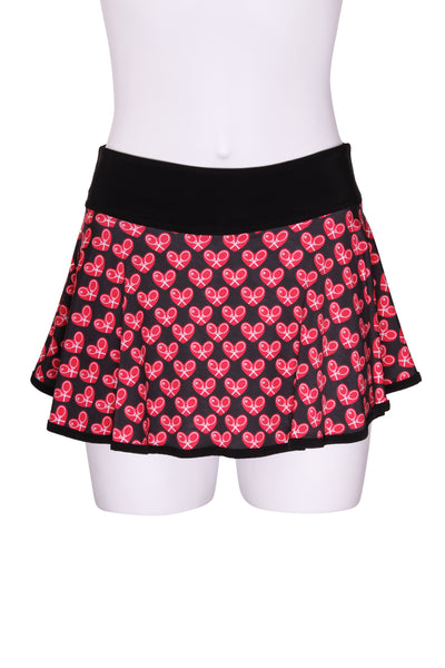 "Mini Heart LOVE ""O"" Skirt on Black"