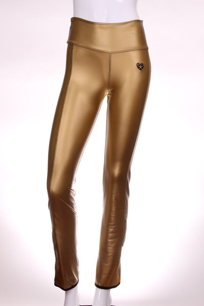 Champagne Gold Leg Lengthening Warm Up Pants - I LOVE MY DOUBLES PARTNER!!!
