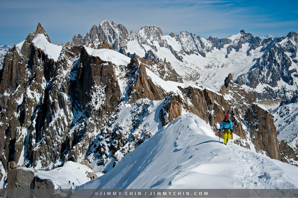 Kit DesLauriers in Chamonix with photo credit to Jimmy Chin