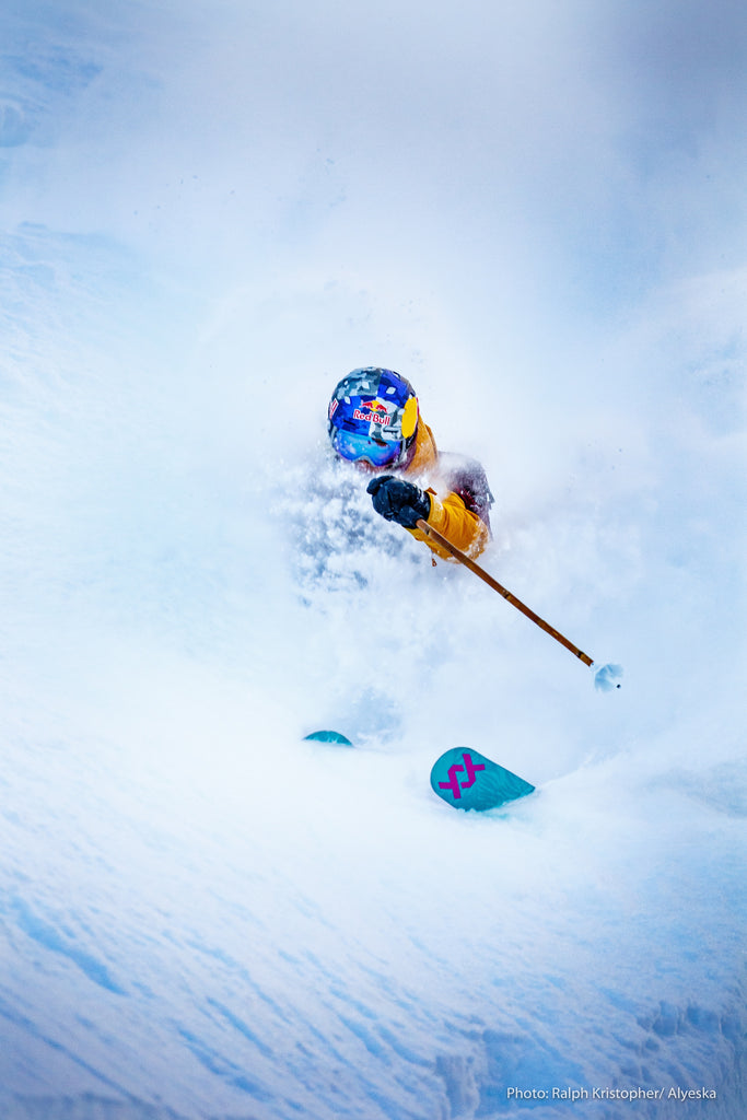 Angel Collinson photo nic alegre alaska snow shredding
