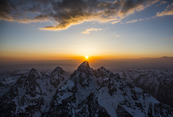 Grand Teton Aerial:  Shot during an aerial reconnaissance flight over Tetons for National Geographic in 2015.