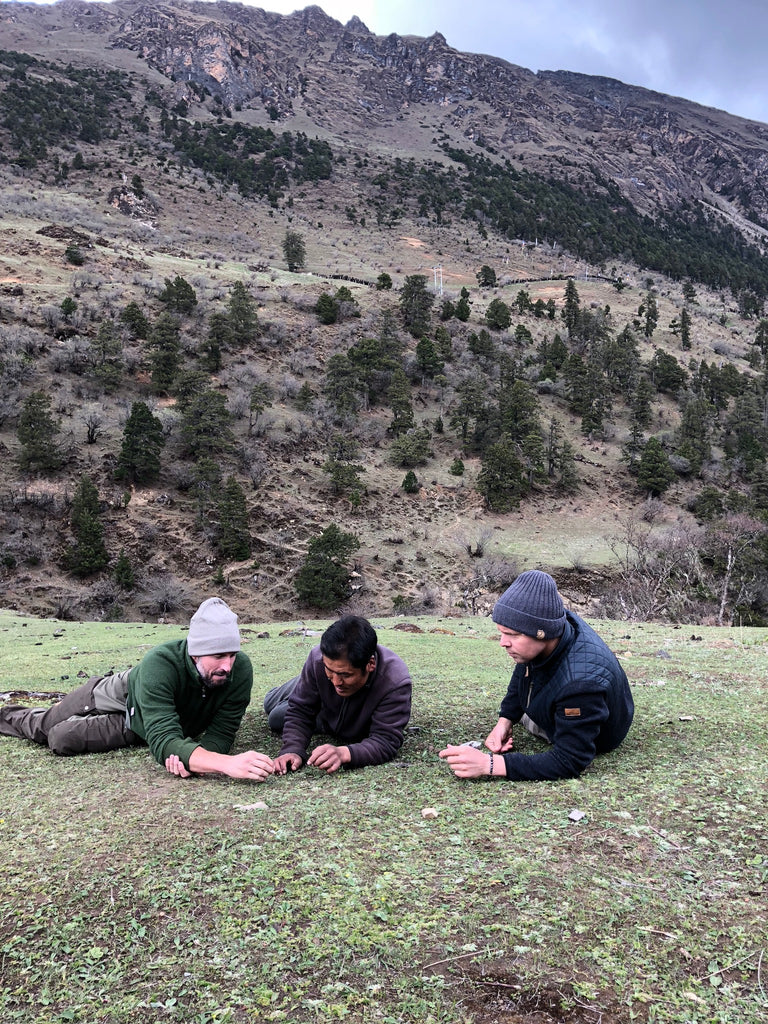 HANAH Cordyceps sinensis hunt in Bhutan wit Travis Rice, Joel Einhorn and a professional Bhutantese hunter