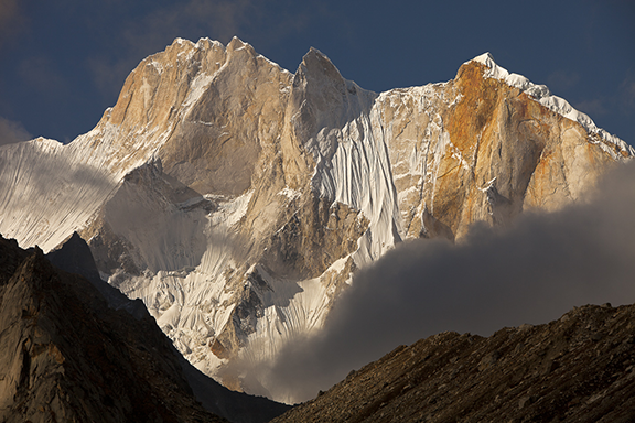 Jimmy Chin's photograph of the Shark's Fin on Meru