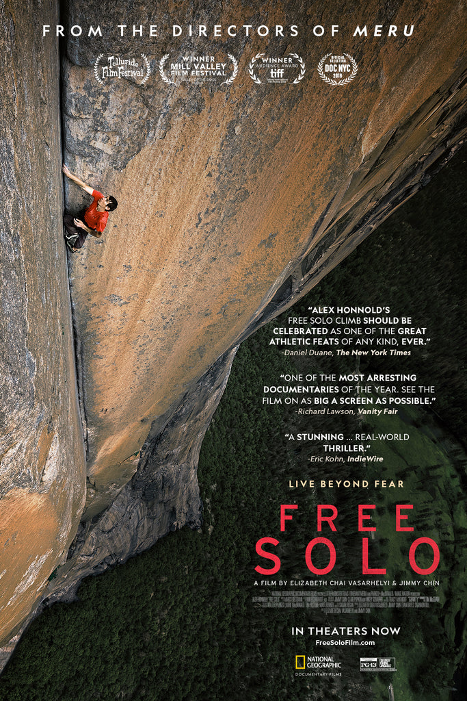 HANAH Hero Jimmy Chin and Elizabeth Chai Vasarhelyi direct the Oscar winning movie Free Solo, featuring Alex Honnold